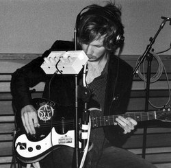 Beck with his Rush guitar