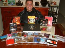 Neil Cladingboel and his Rush collection