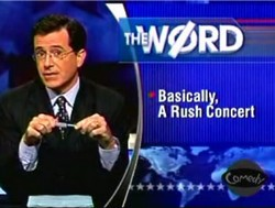 Rush reference on the Colbert Report