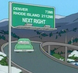 Family Guy Rush reference RI 2112 miles