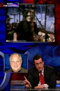 Rush on Colbert Report