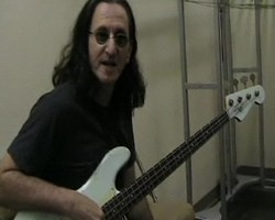 Geddy Lee in the tuning room