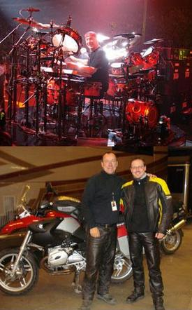 Neil Peart and Chris Stankee