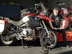 Neil Peart, his motorcycle and his drums