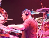 Neil Peart with headphones - Wichita, 8/20/10