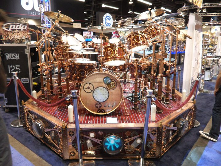 Neil Peart Time Machine Drum Kit. Neil Peart's Time Machine
