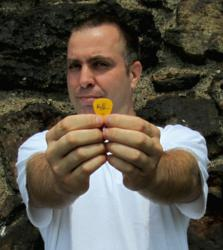 Darrin with his Alex Lifeson pick