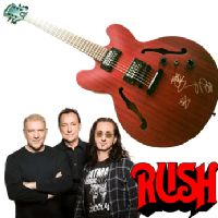 Signed Rush guitar - Aeroplan