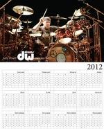DW Drums Neil Peart calendar