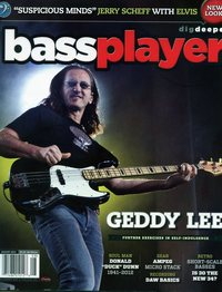 Geddy Lee - Bass Player magazine August, 2012
