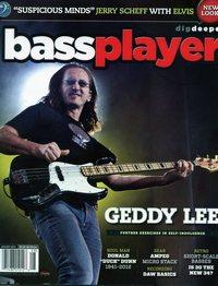 Geddy Lee - Bass Player magazine August, 2012