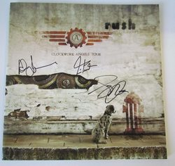 Signed Clockwork Angels tourbook