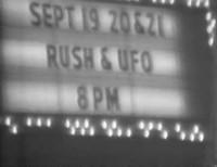 Rush 1977 Portland with UFO