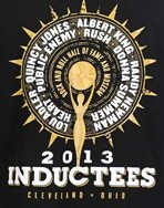 Rock Hall 2013 inductees t-shirt design