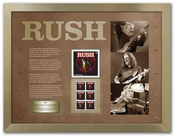 Rush Canada Post LE framed print