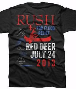 Rush Alberta Flood Relief t-shirt