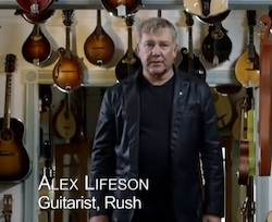 Alex Lifeson for the Kidney Foundation of Canada