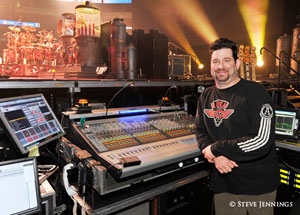 Rush monitor engineer Brent Carpenter