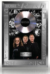 Rush commemorative 40th anniversary frame