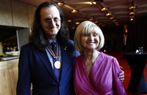 Geddy Lee and his mom