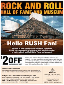 Rock Hall Rush Fan Promotion!
