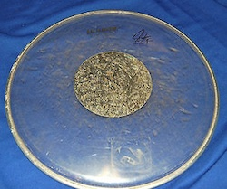Neil Peart autographed drum head