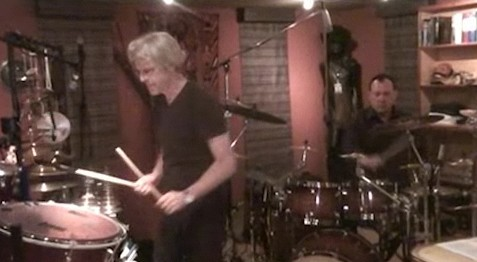 Stewart Copeland jamming with Neil Peart