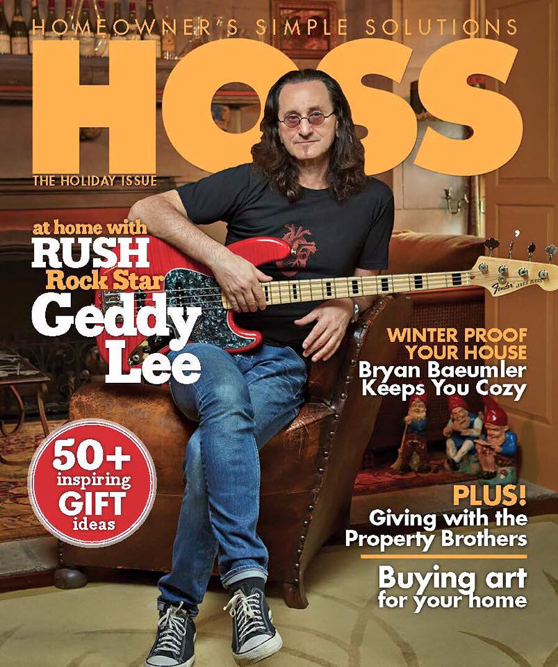 Rush is a BandGeddy Lee HOSS magazine cover feature and contest giveaway