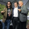 Geddy Lee and Alex Lifeson getting the key to the city from Toronto Mayor John Tory - photo by Paul Beaulieu of The Canadian Music Scene