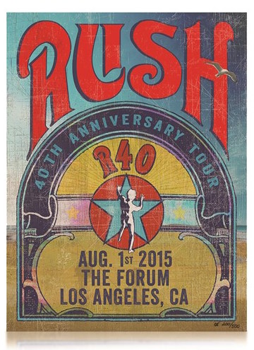 Limited Edition Rush R40 Forum poster