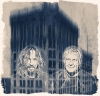 Marco Minneman and Alex Lifeson - Artwork by Tom Colbie