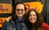 Geddy with Q104.3's Shelli Shonstein