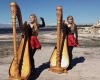 Dual twin harpists Camille And Kennerly