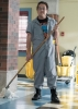 Johnny Atkins as the janitor in Schooled