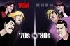 Rush '70s vs '80s - artwork by Adrian Borromeo, UCR