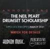 Neil Peart Drumset Scholarship - Hudson Music, PAS